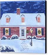 New England Christmas Canvas Print