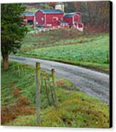New England Farm Canvas Print by Bill Wakeley