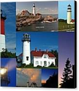 New England Lighthouse Collection Canvas Print by Juergen Roth