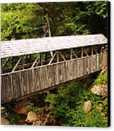 New Hampshire Covered Bridge Canvas Print by Ella Char