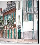 New Orleans Gov. Nichols And Royal St Canvas Print by Anthony Butera