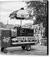 New Orleans - Lucky Dogs Bw Canvas Print by Steve Harrington