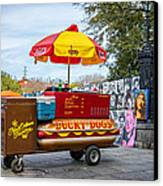 New Orleans - Lucky Dogs  Canvas Print by Steve Harrington