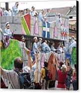 New Orleans - Mardi Gras Parades - 1212101 Canvas Print by DC Photographer