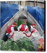 New Orleans - Mardi Gras Parades - 121294 Canvas Print by DC Photographer