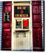 New Orleans Snow Ball Stand Canvas Print by Louis Maistros