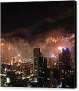New Year Fireworks Canvas Print by Ray Warren