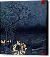 New Years Eve Foxfires At The Changing Tree Canvas Print
