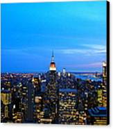 New York By Night Canvas Print