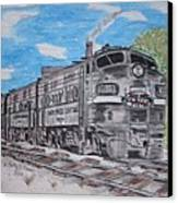 New York Central Train Canvas Print