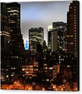 New York City Blue Canvas Print