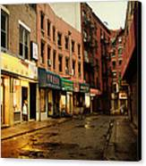New York City - Rainy Afternoon - Doyers Street Canvas Print by Vivienne Gucwa