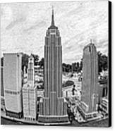 New York City Skyline - Lego Canvas Print by Edward Fielding