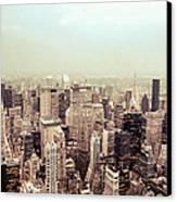 New York City - Skyline On A Hazy Evening Canvas Print by Vivienne Gucwa