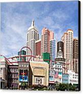 New York New York Las Vegas Canvas Print by Jane Rix