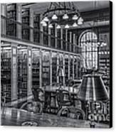 New York Public Library Genealogy Room II Canvas Print