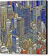 New York Skyline 20130430v5-square Canvas Print
