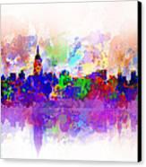 New York Skyline Splats 3 Canvas Print by Bekim Art