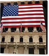 New York Stock Exchange Bride And Groom Dancing Canvas Print