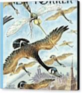 New Yorker April 17th, 2000 Canvas Print by Peter de Seve