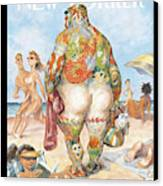 New Yorker August 29th, 2005 Canvas Print by Peter de Seve