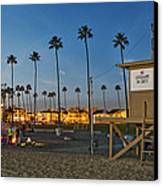Newport Beach At Dusk Canvas Print by Kelley King