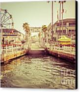 Newport Beach Balboa Island Ferry Dock Photo Canvas Print by Paul Velgos