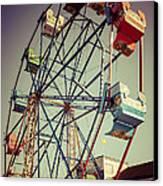 Newport Beach Ferris Wheel In Balboa Fun Zone Photo Canvas Print by Paul Velgos
