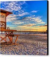 Newport Beach Pier - Wintertime  Canvas Print by Jim Carrell
