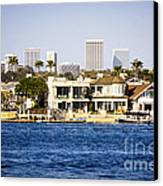 Newport Beach Skyline And Waterfront Homes Picture Canvas Print by Paul Velgos
