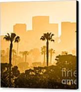 Newport Beach Skyline Morning Sunrise Picture Canvas Print by Paul Velgos