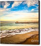 Newport Pier Photo In Newport Beach California Canvas Print by Paul Velgos