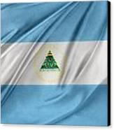 Nicaraguan Flag Canvas Print by Les Cunliffe