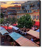 Nice Flower Market Canvas Print