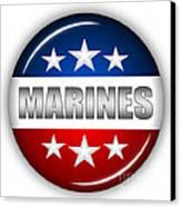 Nice Marines Shield Canvas Print