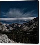 Night At Olmstead Point Canvas Print by Cat Connor