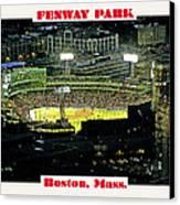 Night Baseball Fenway Park Boston Massachusetts Canvas Print