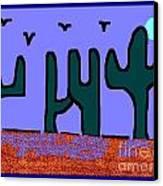 Night Desert Canvas Print by Meenal C