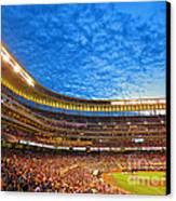 Night Game At Target Field Canvas Print by Heidi Hermes
