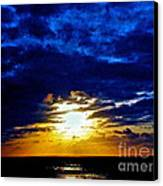 Night Surrounds The Sun Canvas Print by Q's House of Art ArtandFinePhotography