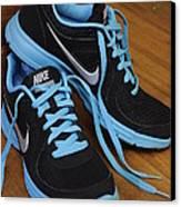 Nike Shoes Canvas Print by Nicole Berna