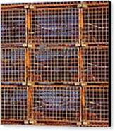Nine Orange Lobster Traps Canvas Print by Stuart Litoff