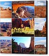 Nine Utah Landmarks Canvas Print by Catherine Sherman