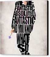 Ninth Doctor - Doctor Who Canvas Print by Ayse Deniz