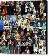 Nirvana Collage Canvas Print by Taylan Apukovska