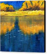 Nisqually Reflection Canvas Print by Nancy Merkle