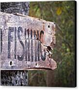 No Fishing Canvas Print