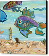 No Fishing Canvas Print by Brenda Ruark