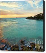 No Name Harbor Sunset Canvas Print by Eyzen M Kim