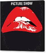 No153 My The Rocky Horror Picture Show Minimal Movie Poster Canvas Print by Chungkong Art